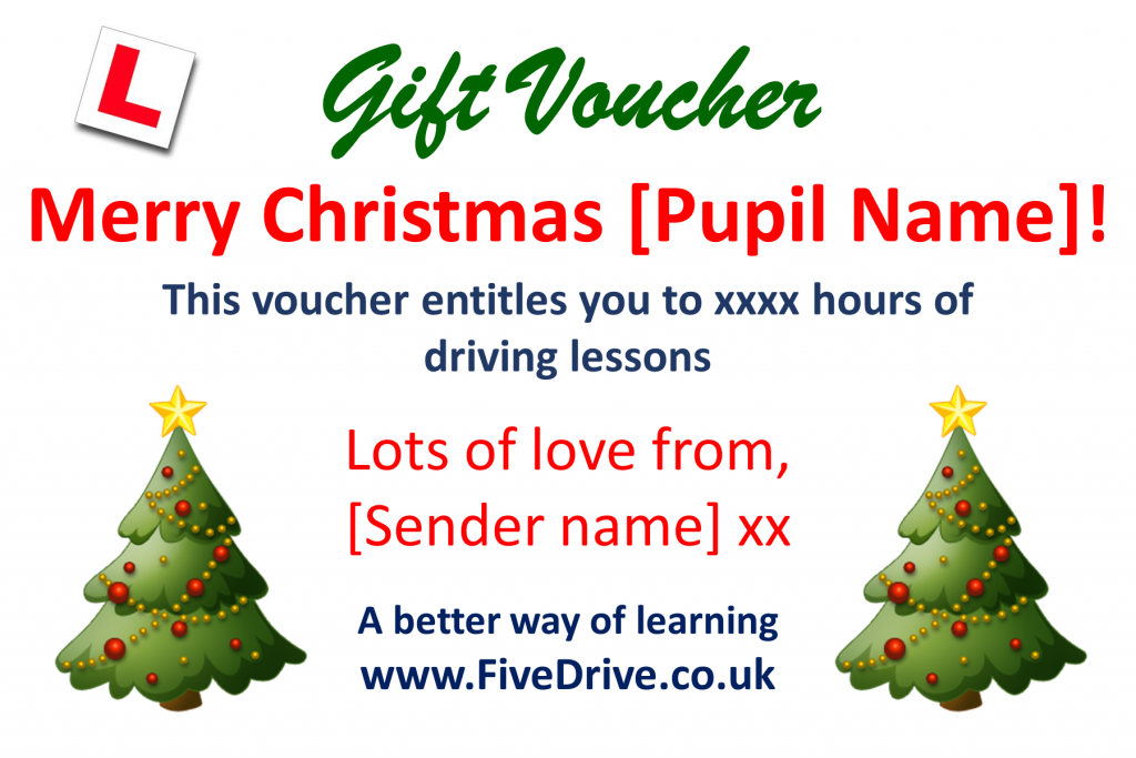 Gift voucher template - Christmas